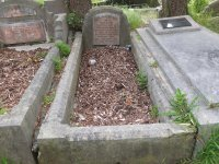 Katie Rait's grave - before photo