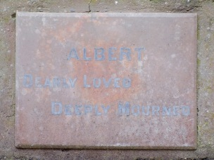 Albert Martin's plaque