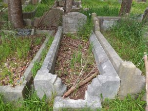 Zillah Cress's grave - before photo