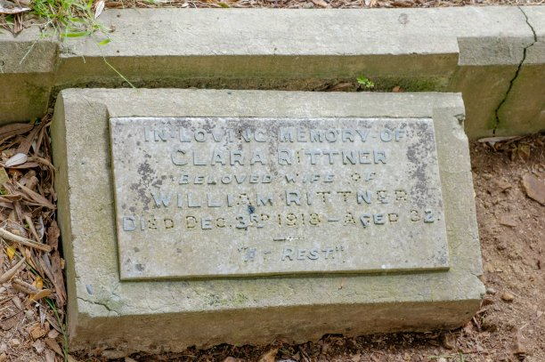 Clara Rittner's plaque