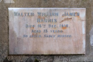 Walter Harris's plaque