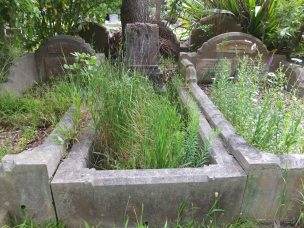 John McKenzie's grave - before photo