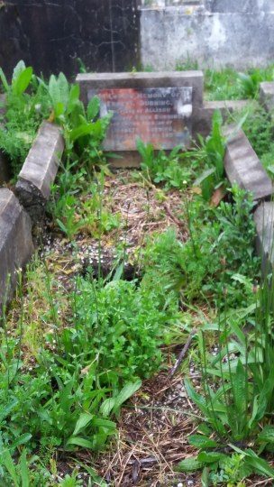 Ernest Durning's grave - before photo