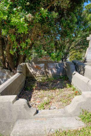 John Nicholls' grave - before photo