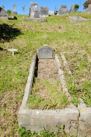 John Logan's grave - before photo