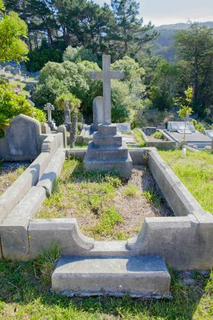 Alfred Hindmarsh's grave - before photo