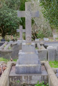 Mary Loftus's grave - closer view of the cross